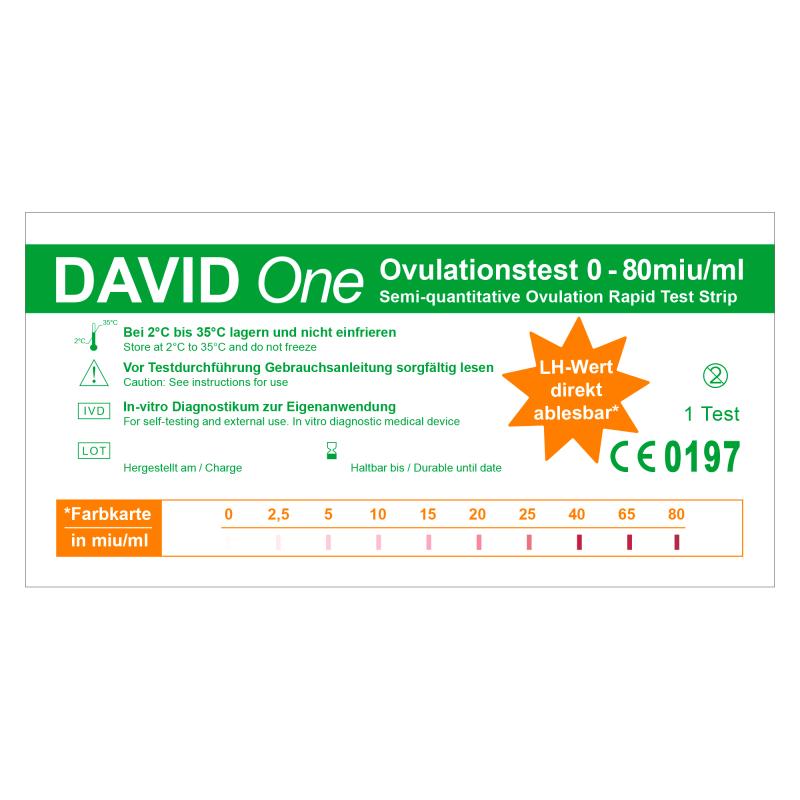 David One 30 x Ovulationstest 0-80 miu/ml mit LH-Wert Anzeige