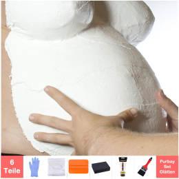 Purbay Premium Babybauch Gipsabdruck Set GLÄTTEN