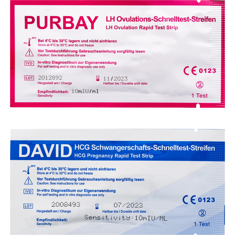 10 x David Ovulationstest Streifen 10 miu/ml LH ovulation test